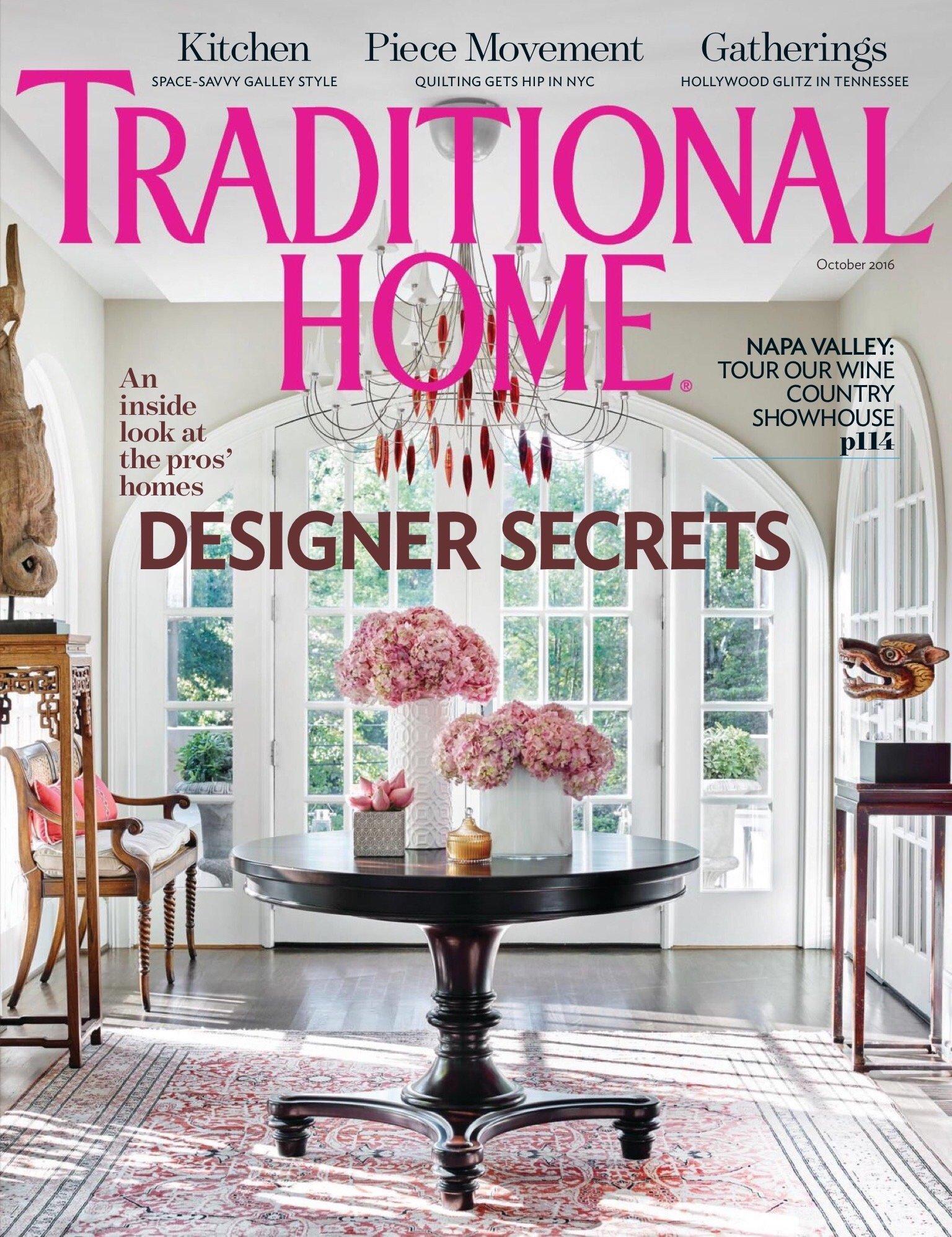 2016 Traditional Home magazine Napa Valley showcase